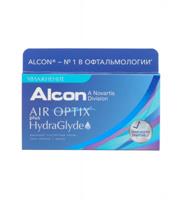 Alcon® AIR OPTIX® plus HydraGlyde® 3 линзы